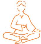 Mettere la mano destra sul Nabhi chakra a sinistra