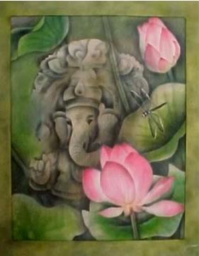 Shri Ganesha Dipinto