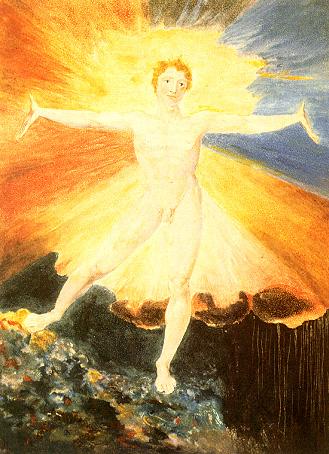 Come William Blake rappresenta un uomo il cui Spirito è manifesto