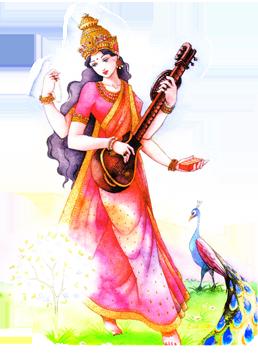 Shri Saraswati (da Cantico, un dipinto di Eva Villa)