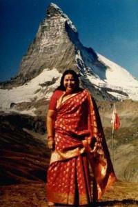 Shri Mataji e il Monte Cervino