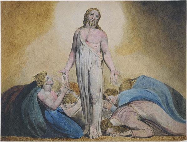 Cristo appare ai discepoli dopo la sua resurrezione (William Blake)